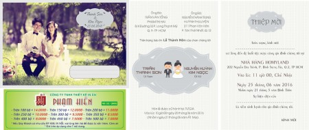 Thiệp cưới in hình Mẫu qh-06