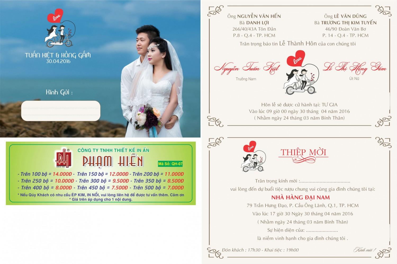 Thiệp cưới in hình QH-07